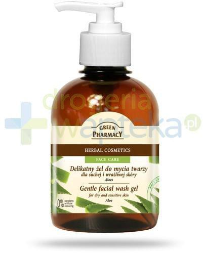 Green Pharmacy delikatny żel do mycia twarzy skóra sucha i wrażliwa aloes 270 ml