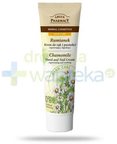 Green Pharmacy Rumianek Krem do rąk i paznokci regenerujący łagodzący 100 ml Elfa Pharm