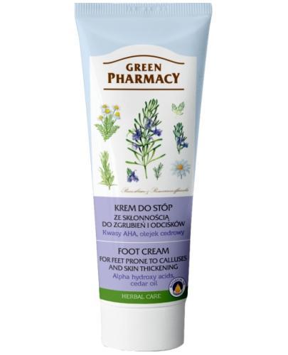 Green Pharmacy Krem do stóp ze skłonnością do zgrubień i odcisków Kwasy AHA Olejek cedrowy 75 ml Elfa Pharm