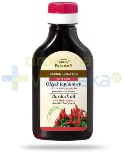 Green Pharmacy Olejek łopianowy z czerwoną papryką - pobudza wzrost włosów 100 ml Elfa Pharm