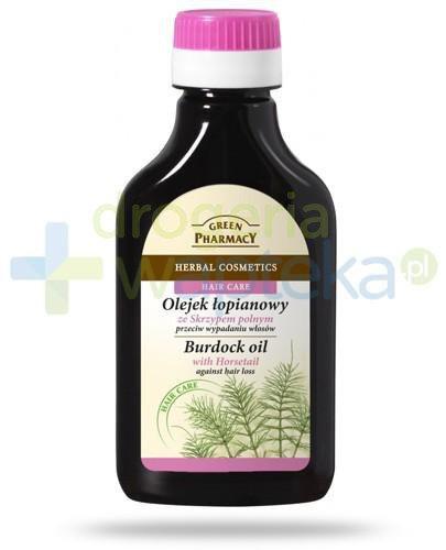 Green Pharmacy olejek łopianowy ze skrzypem polnym przeciw wypadaniu włosów 100 ml Elf...