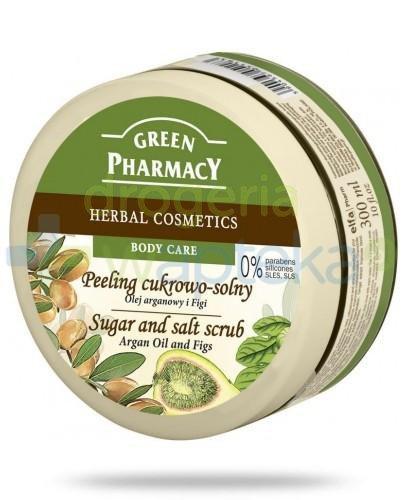Green Pharmacy Peeling cukrowo solny Olej arganowy i Figi 300 ml Elfa Pharm