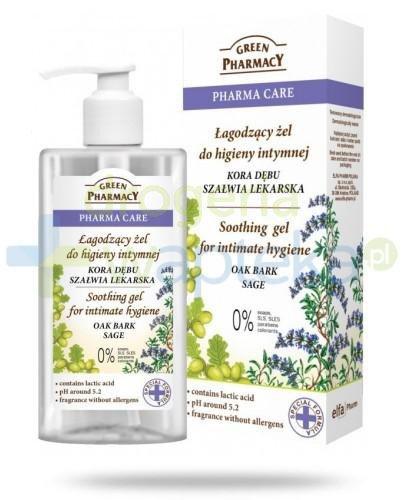 Green Pharmacy Pharma Care Kora Dębu Szałwia Lekarska łagodzący żel do higieny intymnej 300 ml Elfa Pharm