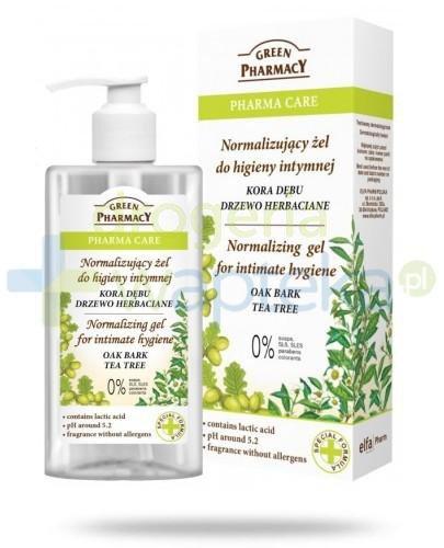 Green Pharmacy Pharma Care Kora Dębu Drzewo Herbaciane normalizujący żel do higieny int...