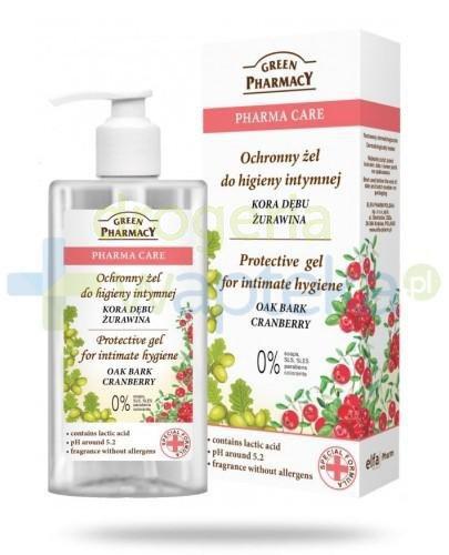 Green Pharmacy Pharma Care Kora Dębu Żurawina ochronny żel do higieny intymnej 300 ml E...