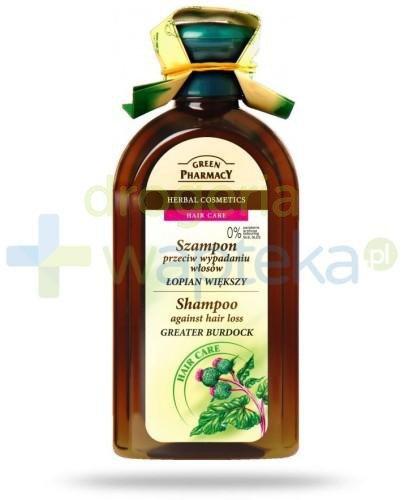Green Pharmacy Szampon do każdego rodzaju włosów przeciw wypadaniu Łopian większy 350 ml Elfa Pharm