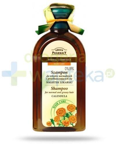 Green Pharmacy Szampon do włosów normalnych i przetłuszczających się Nagietek lekarski 350 ml Elfa Pharm
