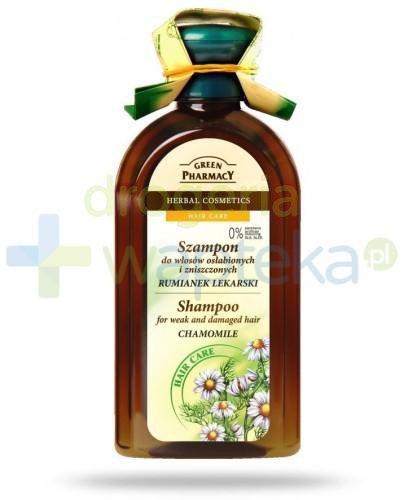 Green Pharmacy Szampon do włosów osłabionych i zniszczonych Rumianek lekarski 350 ml Elfa Pharm