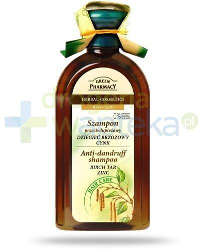 Green Pharmacy szampon przeciwłupieżowy dziegieć brzozowy cynk 350 ml Elfa Pharm