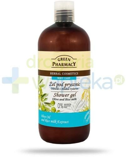 Green Pharmacy Żel pod prysznic Oliwki i Mleko ryżowe 500 ml Elfa Pharm