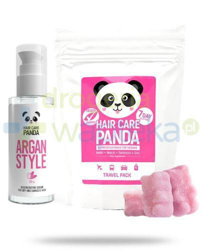 Noble Health Hair Care Panda Argan Style 50 ml + Hair Care Panda Travel Pack 70 g [ZESTAW]