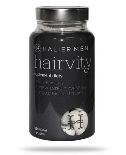 Hairvity Halier Men zdrowe włosy od wewnątrz 60 kapsułek [Data ważności 30-09-2019] + Hairvity Halier Men [GRATIS]