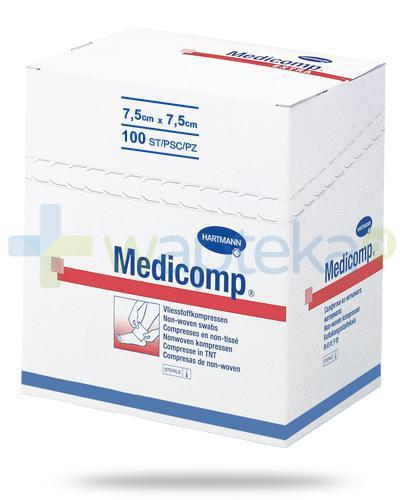 Hartmann Medicomp kompresy niejałowe z włókniny 7,5cm x 7,5cm 100 sztuk