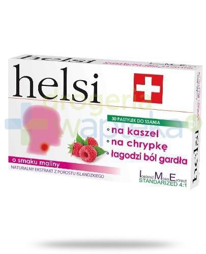 Helsi ekstrakt z porostu islandzkiego o smaku maliny 30 pastylek