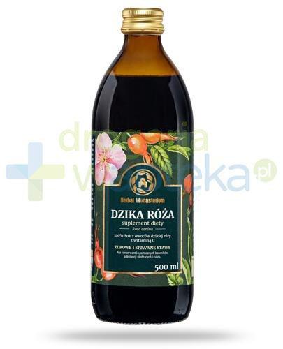 Herbal Monasterium Dzika róża naturalny sok z owoców dzikiej róży z witaminą C 500 m...