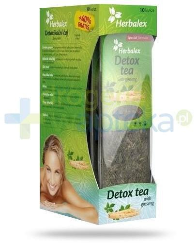 Herbalex Detox Tea herbatka ziołowa z żeń-szeniem 14 sztuk
