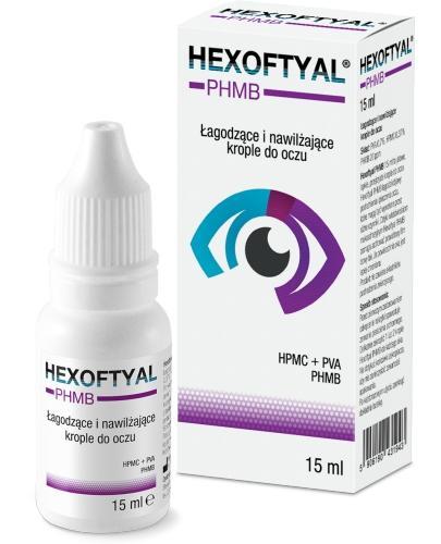 Hexoftyal PHMB łagodzące i nawilżające krople do oczu 15 ml