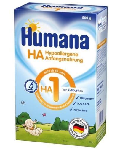 Humana HA 1 mleko modyfikowane początkowe od urodzenia 500 g