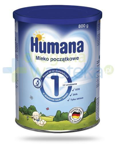 Humana 1 mleko modyfikowane początkowe od urodzenia 800 g