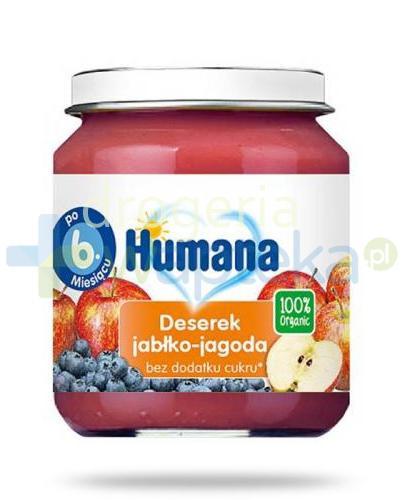 Humana 100% Organic Deserek jabłko-jagoda 6m+ 125g