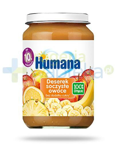 Humana 100% Organic deserek soczyste owoce dla dzieci 10m+ 190 g  whited-out