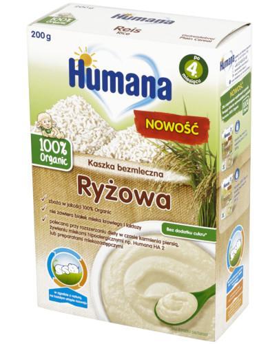 Humana 100% Organic Kaszka bezmleczna ryżowa 200 g