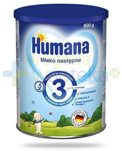 Humana 3 mleko modyfikowane dla dzieci 12m+ 800 g  whited-out
