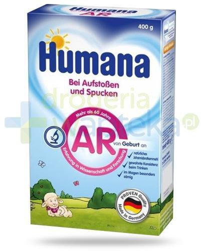 Humana AR mleko modyfikowanne przeciw ulewaniom od urodzenia 400 g [Data ważności 09-05-...