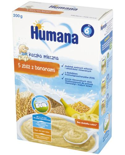 Humana Kaszka mleczna 5 zbóż z bananami 200 g
