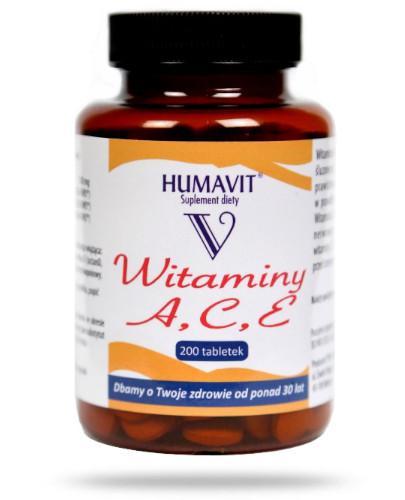 Humavit V drożdże piwne + witamina A,C,E 200 tabletek