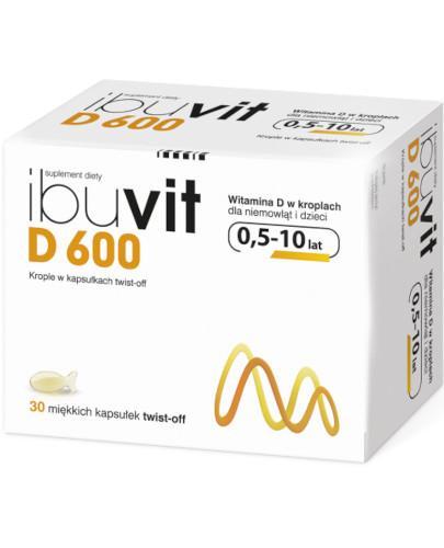 IbuVit D 600 witamina D dla niemowląt i dzieci, krople 30 kapsułek