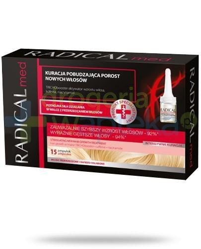 Ideepharm Radical Med kuracja pobudzająca porost nowych włosów w ampułkach 15x 5 ml