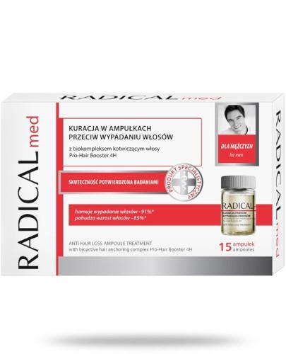 Ideepharm Radical Med kuracja przeciw wypadaniu włosów dla mężczyzn w ampułkach 15x 5...