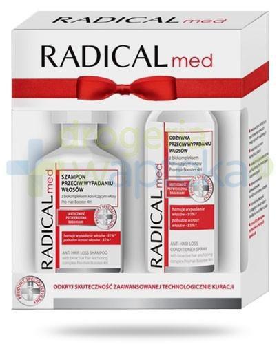Ideepharm Radical Med szampon przeciw wypadaniu włosów 300 ml + odżywka przeciw wypadaniu włosów 200 ml