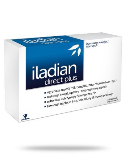Iladian Direct Plus 10 tabletek dopochwowych