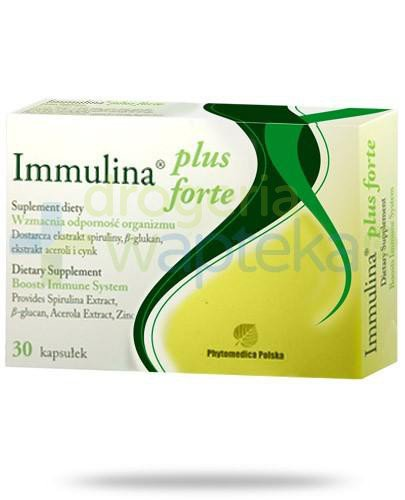 Immulina Plus Forte 200mg 30 kapsułek  whited-out