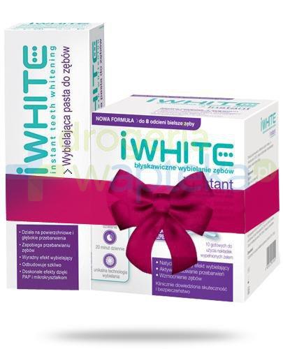iWhite Instant nakładki wybielające do zębów 10 sztuk + iWhite pasta wybielająca do ...  whited-out