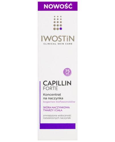 Iwostin Capillin forte koncentrat na naczynka do ciała i twarzy 75 ml