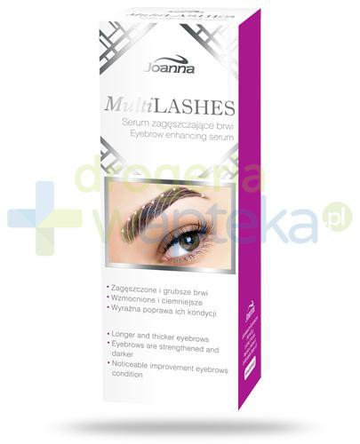 Joanna MultiLashes serum zagęszczające brwi 4 ml  whited-out