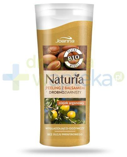 Joanna Naturia peeling drobnoziarnisty z balsamem z olejkiem arganowym 100 g