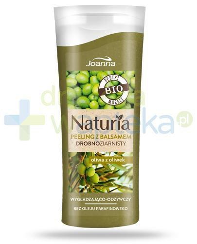 Joanna Naturia peeling drobnoziarnisty z balsamem z oliwą z oliwek 100 g