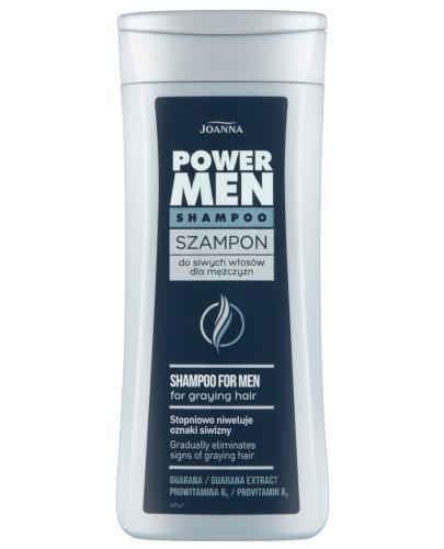 Joanna Power Hair szampon do siwych włosów dla mężczyzn 200 ml