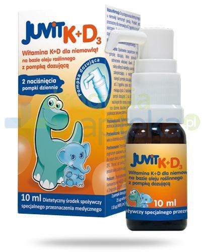 Juvit K + D3 krople doustne z pompką 10 ml