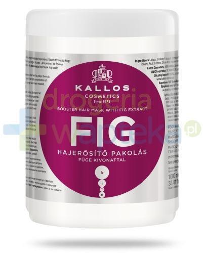 KALLOS FIG Wzmacniająca Maska do włosów z wyciągiem z fig 1000 ml  whited-out