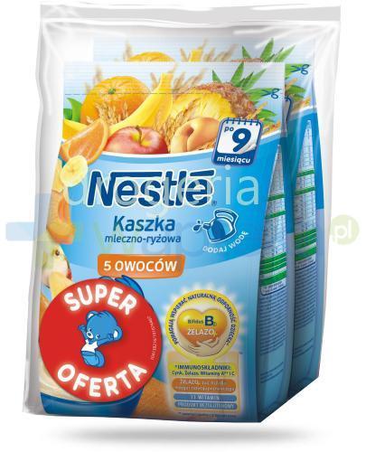Kaszka mleczno-ryżowa Nestlé 5 owoców po 9 miesiącu 2x 230 g [DWUPAK]
