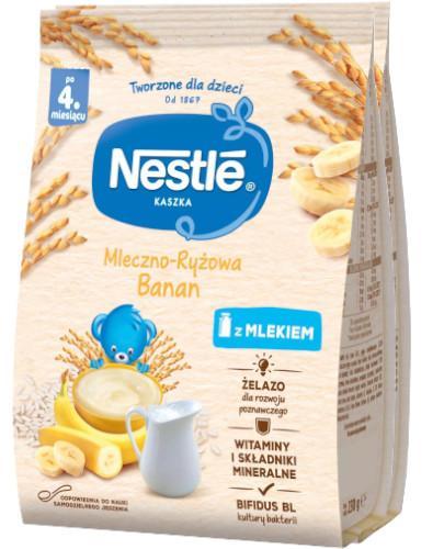 Kaszka mleczno-ryżowa Nestlé banan po 4 miesiącu 2x 230 g [DWUPAK]