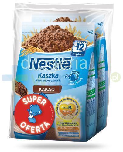 Kaszka mleczno-ryżowa Nestlé kakao po 12 miesiącu 2x 230 g [DWUPAK]