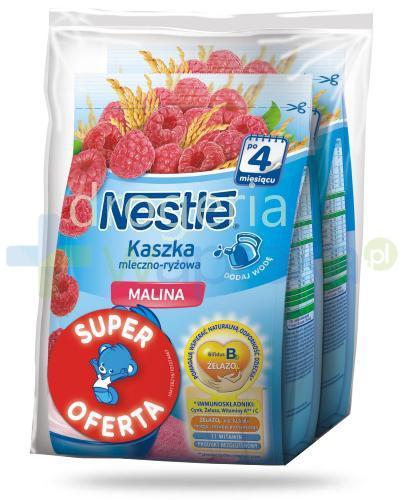 Kaszka mleczno-ryżowa Nestlé malina po 4 miesiącu 2x 230 g [DWUPAK]