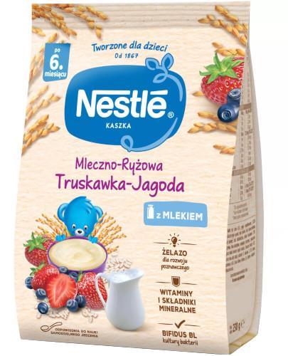 Kaszka mleczno-ryżowa Nestlé truskawka jagoda po 6 miesiącu 230 g [Data ważności 30-0...