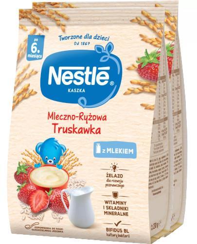 Kaszka mleczno-ryżowa Nestlé truskawka po 6 miesiącu 2x 230 g [DWUPAK]
